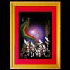 虹龍-紫-額装見本